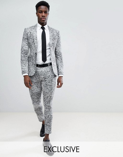 Super Skinny Suit Trousers In Jersey - Grey Noak Buy Cheap Wide Range Of P7crEu