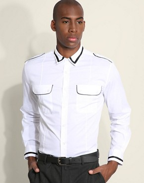 Peter Werth Cavalry Slim Contrast Piping Shirt