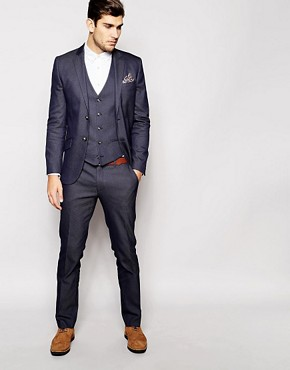 River Island Blue Suit in Slim Fit