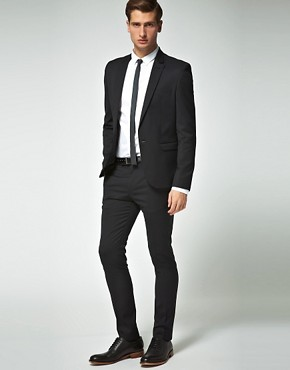 Image 1 of ASOS Skinny Fit Black Suit