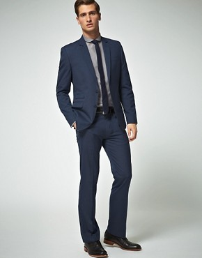 Image 1 ofASOS Slim Fit Blue Suit 