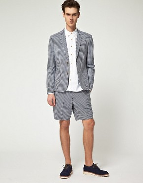 Image 1 ofASOS Slim Fit Gingham Check Short Suit
