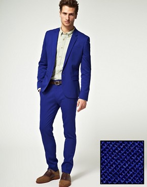 Image 1 ofASOS Skinny Fit Indigo Jacket