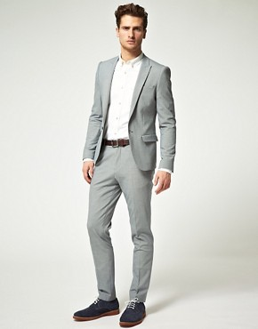 Image 1 of ASOS Skinny Fit Check Suit