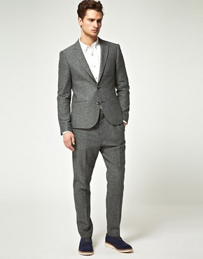 Image 1 ofASOS Slim Herringbone Suit
