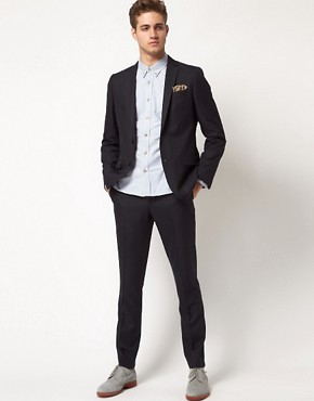 Image 1 ofRiver Island John Slim Suit in Navy