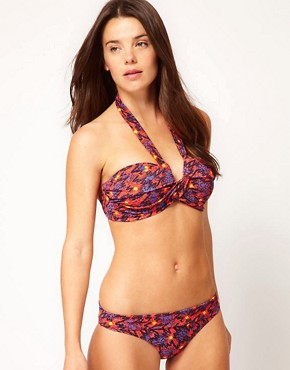 Image 1 ofFrench Connection Grecian Bikini With Beach Print
