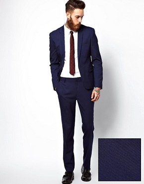 Image 1 ofASOS Skinny Suit in Blue