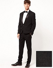 ASOS Skinny Fit Tuxedo Suit in Black