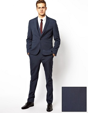 Image 1 ofASOS Slim Fit Suit in Blue