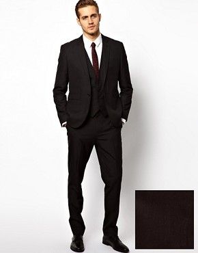 Image 1 ofASOS Slim Fit Suit in Black