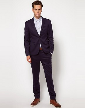 Image 1 ofASOS Skinny Fit SB2 Suit in Navy