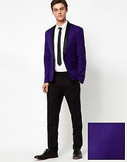 ASOS Skinny Fit Tuxedo in Indigo &amp; Black