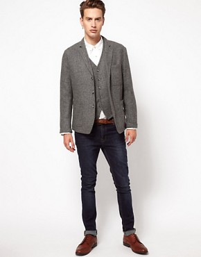Image 1 of ASOS Slim Fit Blazer and Waistcoat