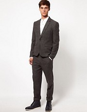 ASOS Skinny Fit Suit in Grey Fleck