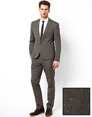 ASOS - Abito slim fit in tessuto puntinato