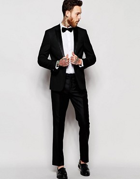 Image 1 of ASOS Tuxedo Suit in Slim Fit