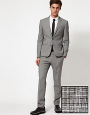 ASOS Skinny Fit Suit in Geo Design 