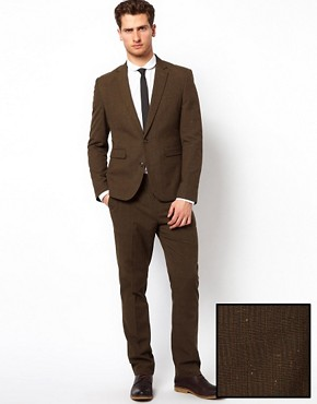 Image 1 ofASOS Slim Fit Suit in Pow Check 