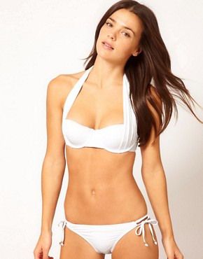 Image 1 ofRiver Island Marilyn White Bikini
