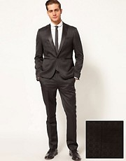 ASOS Slim Fit Tuxedo Suit in Jacquard