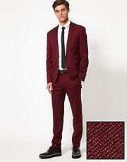 ASOS Skinny Fit Suit in Burgundy