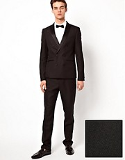 ASOS Slim Fit Tuxedo Suit with Double Breasted Styling