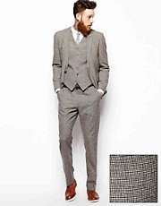 ASOS Slim Fit Suit In Houndstooth