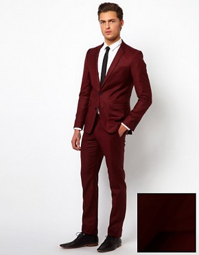 Image 1 ofSelected Skinny Fit Suit with Two Buttons