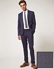 ASOS Skinny Fit Suit in Blue