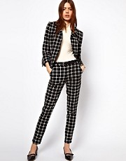ASOS Suit In Ponte Check