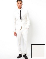 ASOS Skinny Fit Suit in White