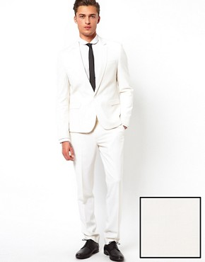 Image 1 ofASOS Skinny Fit Suit in White