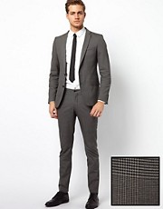 Selected Skinny Suit in Prince of Wales Check