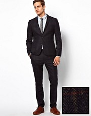 ASOS Slim Fit Check Suit in Italian Fabric 