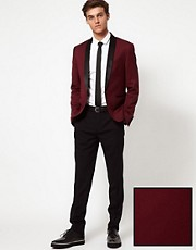 ASOS Skinny Fit Tuxedo Polywool 