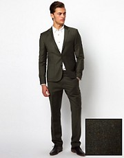 ASOS Slim Fit Suit in Khaki 