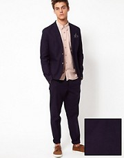 ASOS Slim Fit Cotton Suit in Navy