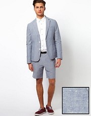 ASOS Slim Fit Suit Cotton Suit in Chambray