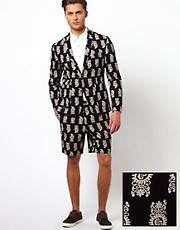 ASOS Slim Fit Blazer and Short in Paisley 