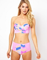 Zinke Chevron Print Bikini