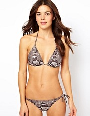 Pieces Gwen Snake Print Bikini