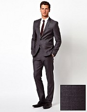 ASOS Slim Fit Suit in 100% Wool Grey