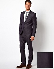 ASOS Slim Fit Suit in 100% Wool Birdseye