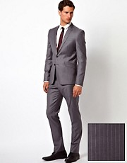 ASOS Slim Fit Suit in 100% Wool Pinstripe