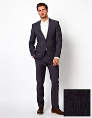 ASOS Slim Fit Suit in 100% Wool Stripe