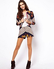 ASOS Short Suit In Mix Print