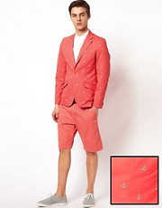 Vito Shorts Suit in Red