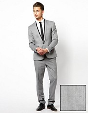ASOS Skinny Fit Suit in Herringbone