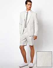 ASOS Slim Fit Stripe Blazer and Shorts